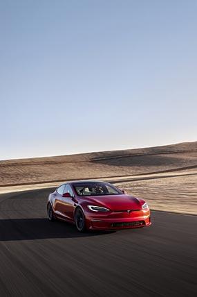 2021 Tesla Model S phone wallpaper thumbnail.
