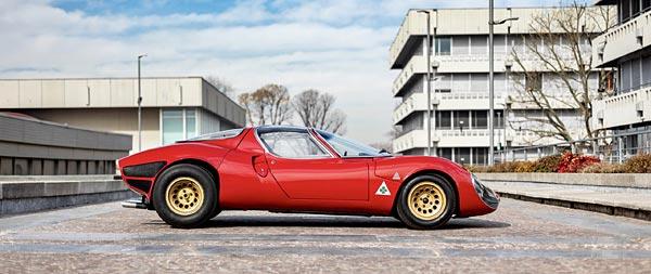 1967 Alfa Romeo Tipo 33 Stradale Prototipo wide wallpaper thumbnail.