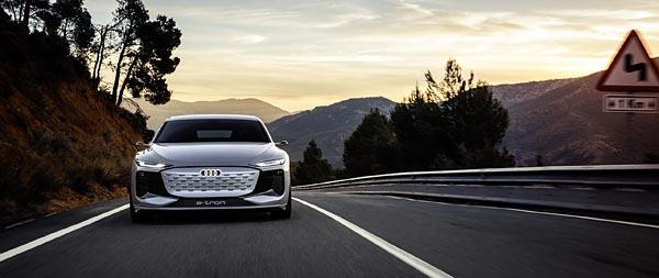 2021 Audi A6 E-Tron Concept wide wallpaper thumbnail.