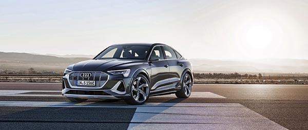 2021 Audi E-Tron S Sportback wide wallpaper thumbnail.