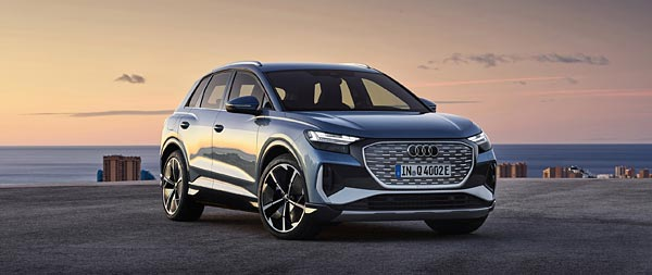 2022 Audi Q4 E-Tron wide wallpaper thumbnail.