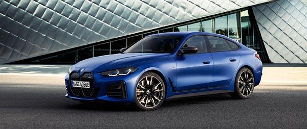 2022 BMW i4 M50 wide wallpaper thumbnail.