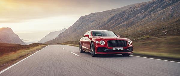 2021 Bentley Flying Spur V8 wide wallpaper thumbnail.