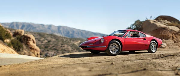 1966 Ferrari Dino 206 GT wide wallpaper thumbnail.