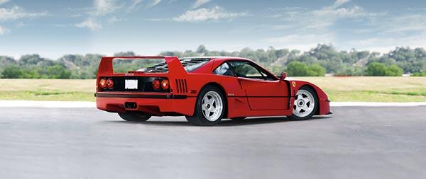 1987 Ferrari F40 wide wallpaper thumbnail.