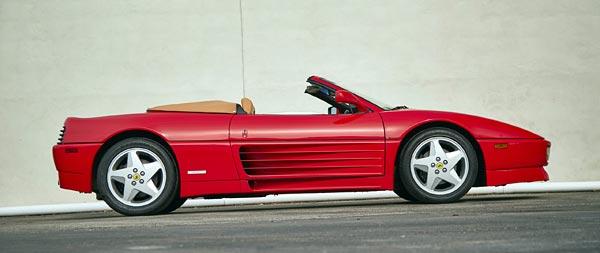 1993 Ferrari 348 Spider wide wallpaper thumbnail.