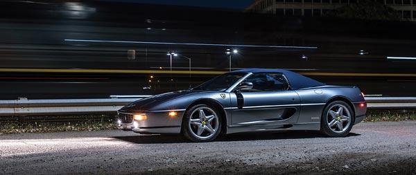 1999 Ferrari F355 Spider Serie Fiorano wide wallpaper thumbnail.