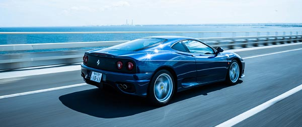 2001 Ferrari 360 Modena wide wallpaper thumbnail.