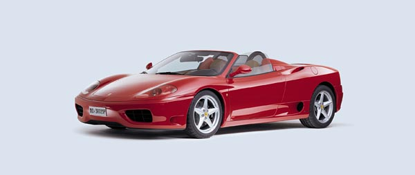 2001 Ferrari 360 Spider wide wallpaper thumbnail.