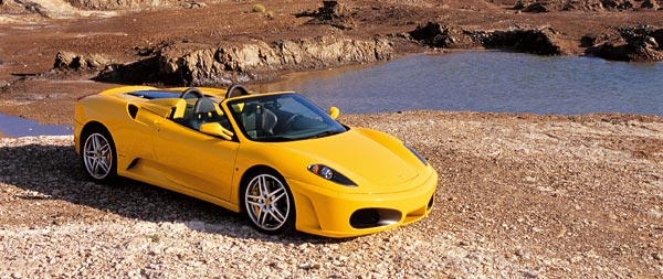 2005 Ferrari F430 Spider wide wallpaper thumbnail.