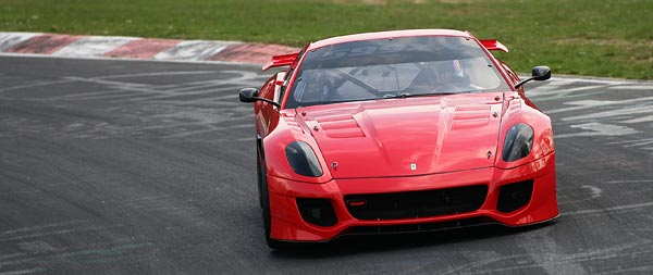 2009 Ferrari 599XX wide wallpaper thumbnail.