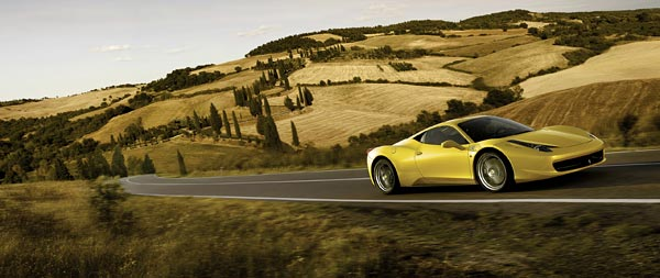 2010 Ferrari 458 Italia wide wallpaper thumbnail.