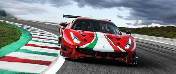 2020 Ferrari 488 GT3 Evo wide wallpaper thumbnail.