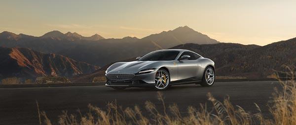 2020 Ferrari Roma wide wallpaper thumbnail.