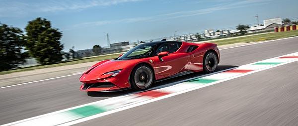 2020 Ferrari SF90 Stradale wide wallpaper thumbnail.