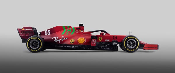 2021 Ferrari SF21 wide wallpaper thumbnail.