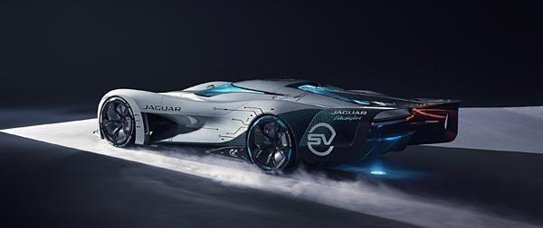 2020 Jaguar Vision Gran Turismo SV Concept wide wallpaper thumbnail.