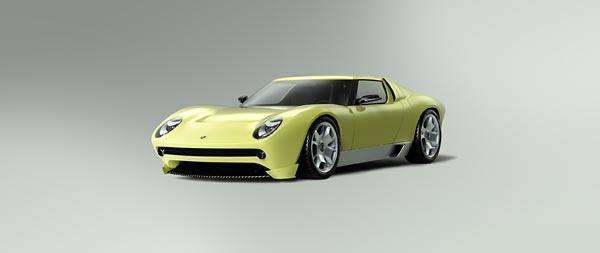 2006 Lamborghini Miura Concept wide wallpaper thumbnail.
