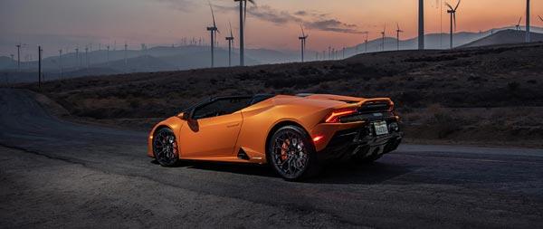 2021 Lamborghini Huracan Evo RWD Spyder wide wallpaper thumbnail.
