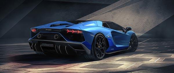 2022 Lamborghini Aventador LP780-4 Ultimae Roadster wide wallpaper thumbnail.