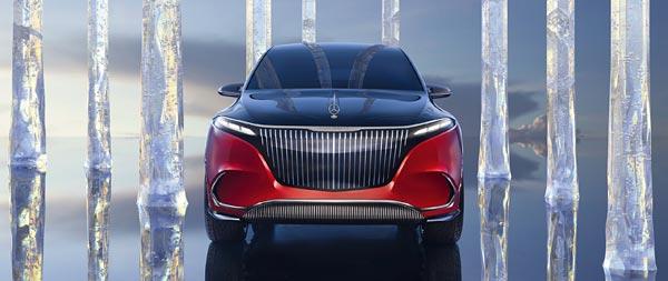 2021 Mercedes-Maybach EQS SUV Concept wide wallpaper thumbnail.