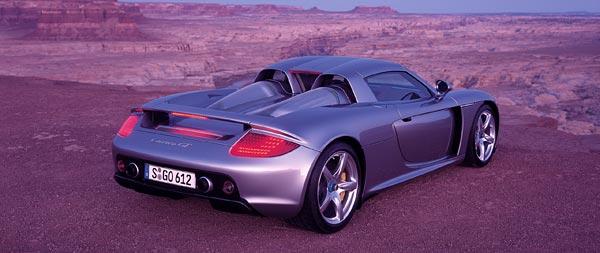 2004 Porsche Carrera GT wide wallpaper thumbnail.