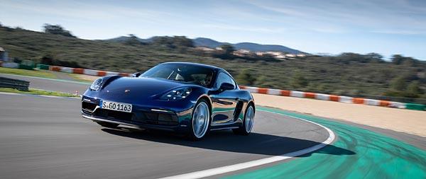 2020 Porsche 718 Cayman GTS 4.0 wide wallpaper thumbnail.