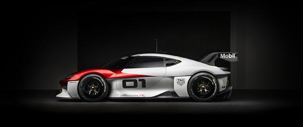 2021 Porsche Mission R Concept wide wallpaper thumbnail.