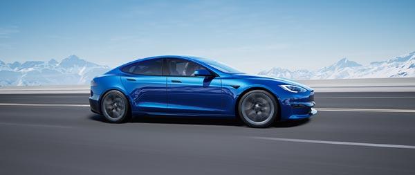2021 Tesla Model S wide wallpaper thumbnail.