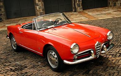 1956 Alfa Romeo Giulietta Spider wallpaper thumbnail.