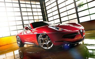 2012 Alfa Romeo Disco Volante Touring wallpaper thumbnail.