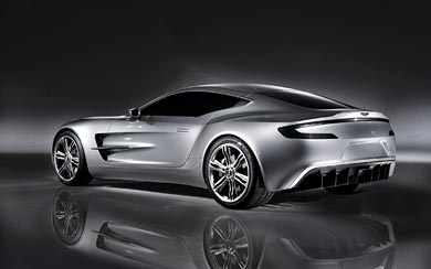 2009 Aston Martin One-77 Concept wallpaper thumbnail.