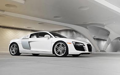 2009 Audi R8 wallpaper thumbnail.