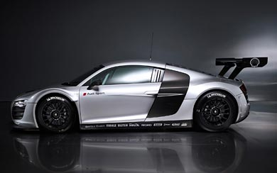 2009 Audi R8 LMS wallpaper thumbnail.
