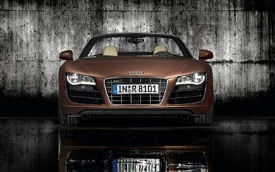 2010 Audi R8 Spyder wallpaper thumbnail.