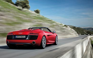 2013 Audi R8 V10 Spyder wallpaper thumbnail.