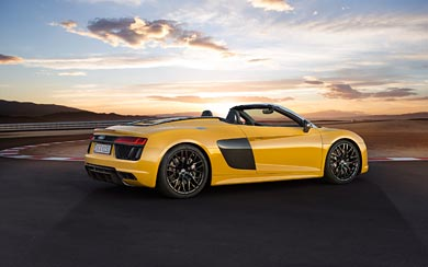2017 Audi R8 Spyder V10 wallpaper thumbnail.
