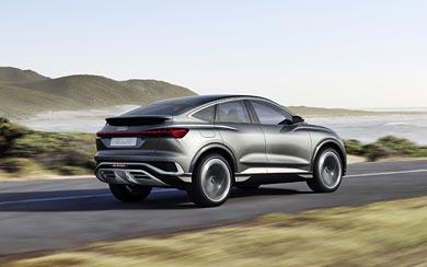 2020 Audi Q4 Sportback E-Tron Concept wallpaper thumbnail.