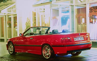 1994 BMW M3 Cabrio wallpaper thumbnail.