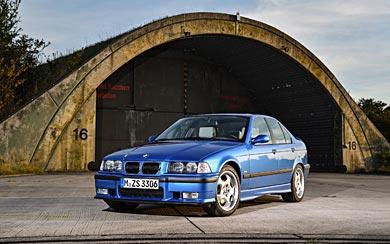 1994 BMW M3 Sedan wallpaper thumbnail.