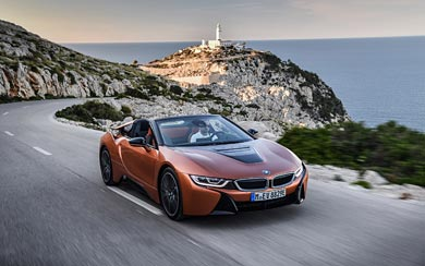 2019 BMW i8 Roadster wallpaper thumbnail.