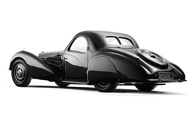 1937 Bugatti Type 57S Coupe wallpaper thumbnail.