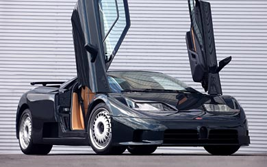 1992 Bugatti EB110 GT wallpaper thumbnail.