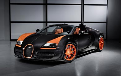 2013 Bugatti Veyron Grand Sport Vitesse World Speed Record wallpaper thumbnail.