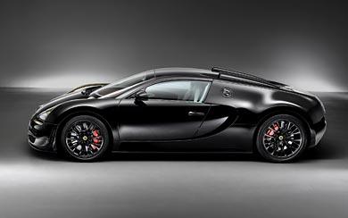 2014 Bugatti Veyron Black Bess wallpaper thumbnail.