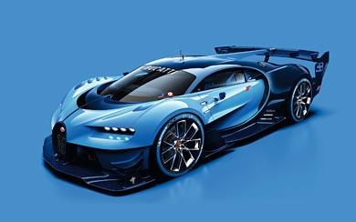 2015 Bugatti Vision Gran Turismo Concept wallpaper thumbnail.