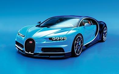 2017 Bugatti Chiron wallpaper thumbnail.