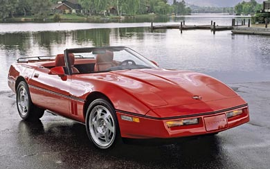 1987 Chevrolet Corvette Convertible wallpaper thumbnail.