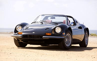 1972 Ferrari Dino 246 GTS wallpaper thumbnail.