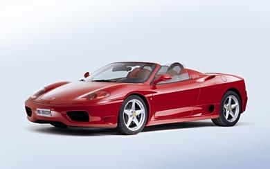 2001 Ferrari 360 Spider wallpaper thumbnail.